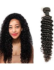 2616738e9204 Daimer Tissage Brésilien Bouclé 100% Vierge Brésilien Cheveux Extension  Couleur Naturelle 14 Inches