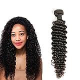 Daimer Tissage Brésilien Bouclé 100% Vierge Brésilien Cheveux Extension Couleur Naturelle 14 Inches