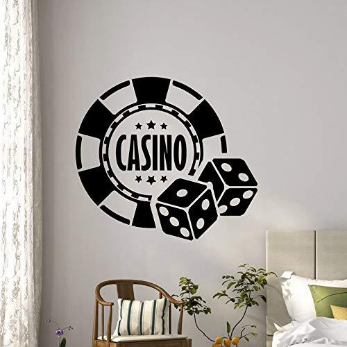 Casino Aufkleber Gambling Decal Gamble Poster Vinyl Wandtattoos Parede Decor Wandbild 19 Farbe Wählen Sie Casino Aufkleber-44x40cm