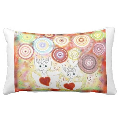 allypillowcase 45,7 cm Watercolor Textur Optik Girly Pastell Kissenbezug, Color#44, 12X18inches -