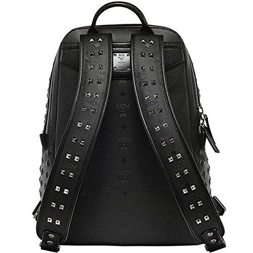 100% Authentic MCM DUKE HONSHU VISETOS Medium Backpack Black MMK5SDK10BK with Dust Bag