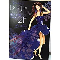 shop inc Daughter On Your 21st Birthday, Birthday Greetings Card
