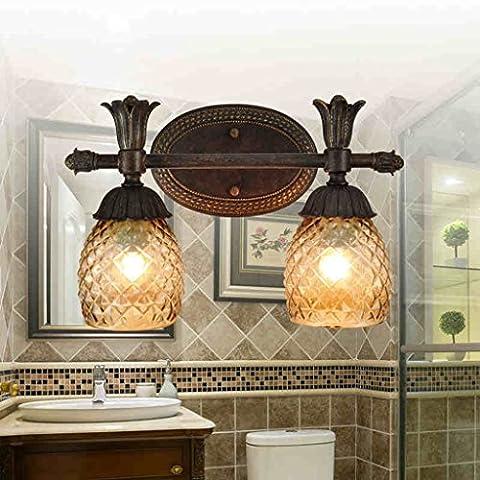 WUFENG Applique American Retro européenne Simple Minimaliste Creative Mirror Bathroom Wall Lamp Lumières décoratives sur le mur