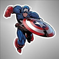 –pegatinas Capitan Captain America Comics dibujos animados zeichentrickfilm, 32 cm