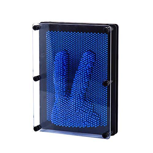 Dastrues 3D Clone Shape Pin Art Toy Sculpture Kreative Changehold Pinscreen Form Nadel für Kinder Erwachsene Blau