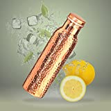 Jaipur Nagri Pure Copper Water Bottle 1000 ml Hammered Jointless Leak Proof