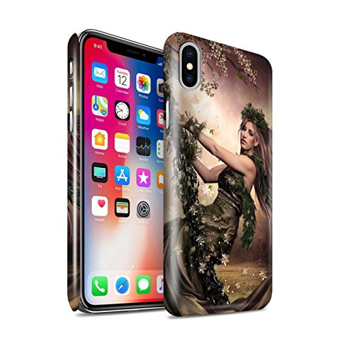 Officiel Elena Dudina Coque / Clipser Brillant Etui pour Apple iPhone X/10 / Balançoire Jardin Design / Un avec la Nature Collection Balançoire Jardin