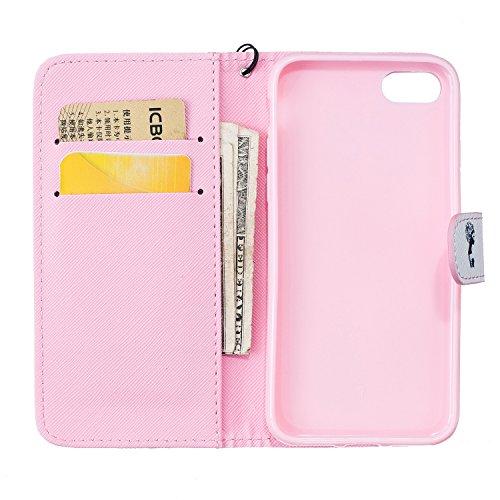 Voguecase® für Apple iPhone 5C hülle,(Blue Sand 01) Kunstleder Tasche PU Schutzhülle Tasche Leder Brieftasche Hülle Case Cover + Gratis Universal Eingabestift Grafiken