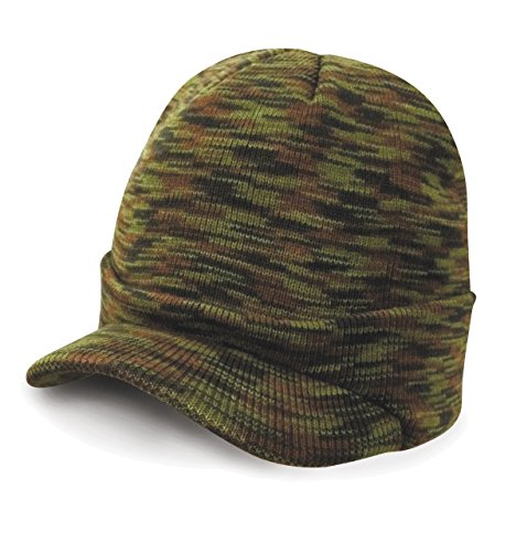 Army Cap Knit (New Kids Ergebnis Winter Essentials vorgebogener kurz Peak Army Strickmütze Gr. One size, Camouflage)