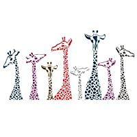 SODIAL(R) Giraffe African Removable Wall Art Sticker Decal Room Home Mural Decor DIY
