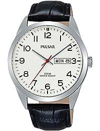 Pulsar Herren-Armbanduhr Analog Quarz Leder PJ6065X1