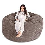 LOUNGE PUG®, Riesen Sitzsack Sofa C1000-L, CloudSac Latexflocken-Mischung, Schlafsofa, Cord Nerzfarben
