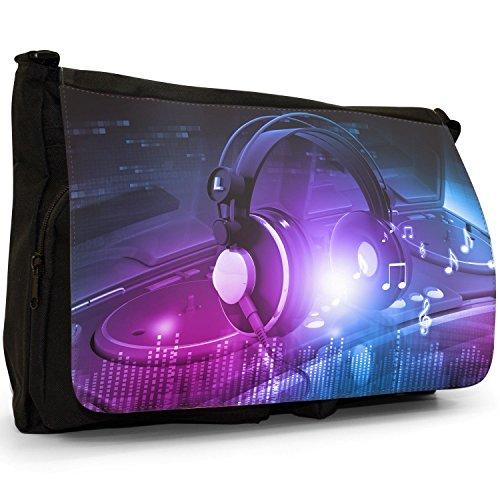 Fancy A Snuggle, Borsa a spalla donna Headphones On DJ Turntables