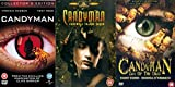Candyman Complete Movies Trilogy Film DVD Collection [3 Discs] Part 1, Part 2: Farewell to the Flesh, Part 3: Day of the Dead + Extras