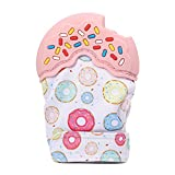 #6: SHELE Donuts Baby Teething Mitten Gloves Self-Soothing Teether Pain Relief Mitt Teething Toys (Pink)