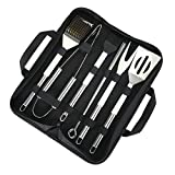 TEENO Utensili Barbecue, Set Barbecue Accessori in Acciaio Inossidabile Utensili da Barbecue all'aperto alla griglia