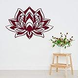 guijiumai Lotus Namaste Bohemian Boho Wand Deal Mehndi Vinyl Wandaufkleber Vinyl Wohnkultur...