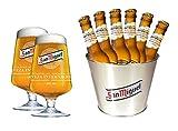 San Miguel Geschenkset - 1 Eiskühler, 2 Gläser, 6 Flaschen Bier