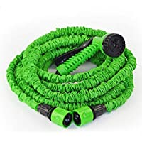 Magic Hose,100FT Hose with gun WATER GARDEN Pipe Green Water valve spray Gun