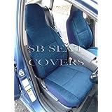 Para adaptarse a un Renault Megane, fundas para asiento, titanio azul, 2frentes
