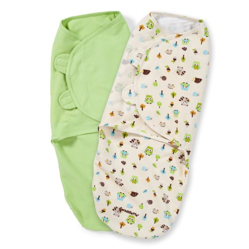 Summer Infant SwaddleMe Adjustable Infant Wrap, Woodland Friends, 2 Count, Large