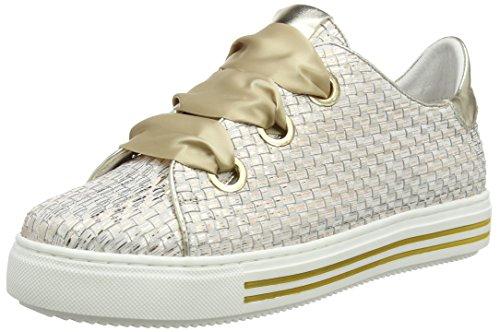 CafèNoir Kdd427, Sneaker a Collo Alto Donna Oro (Platino)