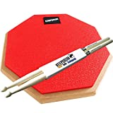 KEEPDRUM DP-RD Practice Pad Rot Drum Übungspad 8mm Gewinde