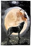 Western Flauschdecke - Howling Wolf