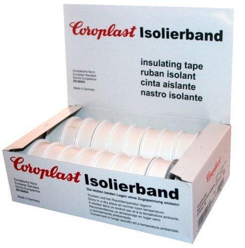 Isolierband Coroplast Box freie Farbauswahl rot grün schwarz blau gelb braun weiß grün/gelb violett grau
