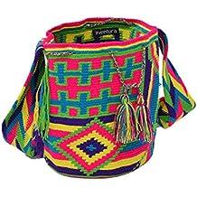 Aventura - Bolso cruzados de algodón para mujer Varios Colores multicolor