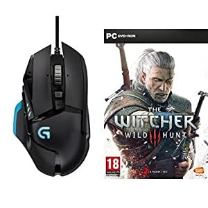 Logitech G502 Proteus Core Souris Gaming Noir + Jeu The Witcher 3 : Wild Hunt (PC)