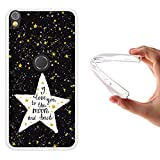 WoowCase Alcatel Shine Lite Hülle, Handyhülle Silikon für [ Alcatel Shine Lite ] Star Satz - I Love You to The Moon and Back Handytasche Handy Cover Case Schutzhülle Flexible TPU - Transparent
