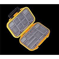 CFtrum Caja de almacenaje de 12 compartimientos de señuelo de la pesca de los trastos impermeable anzuelo