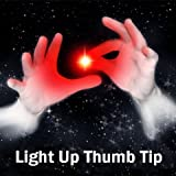 #7: Set of 2 Magic Rubber Thumb Tip Light Up RED Flashing Close Up Real Finger Trick
