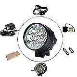 T6 LED Fahrradbeleuchtung 7500K Frontlichter Fahrradlicht 8.4V 6x 18650 USB Wiederaufladbare 9800 Lumens Fahrradlampe 100000h IP6