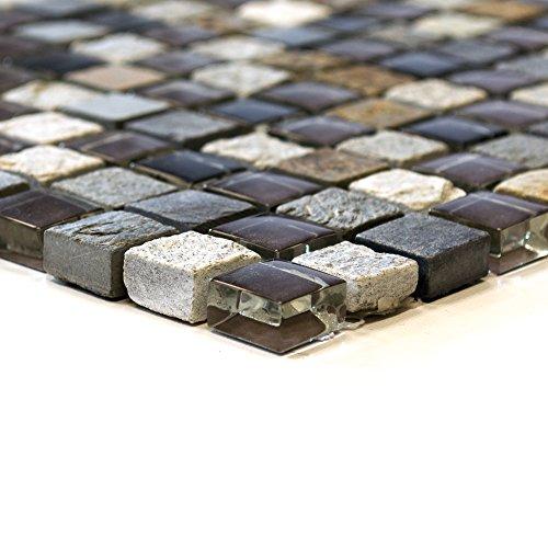 Piastrelle Mosaico mosaico piastrelle Crystal pietra Mix Colorato bordo nuovo 8mm da cucina # 493 - Mix Piastrelle