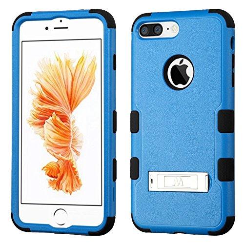 ASMYNA Tuff Hybrid Displayschutzfolie Cover mit Standfunktion für iPhone 7Plus–Natur dunkel - 6 Otterbox-fälle Blau Iphone