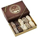 Medjerda Medjool Dates recouverts de chocolat belge | fabriqué à la main | 10 pièces | Boîte-cadeau