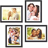 Paper Plane Design Set Of Picture Frames Premium Wall Collage Photo Frame Timeline (Black Set Of 4 Wall Photo Frames) (FrameWood_memories_007)