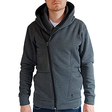 BALEINE Whale Grey Hoodie Hooded Sweat Jacket Sweatshirt Men-2XL