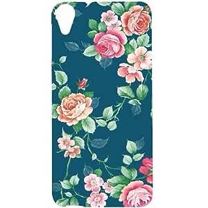 Casotec Vintage Floral Design Hard Back Case Cover for HTC Desire 820