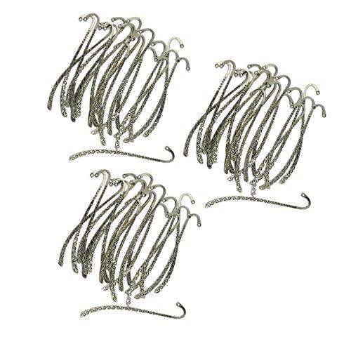 P Prettyia 60 Pezzi Tibetani In Metallo Linea Bordatura Modello Segnalibri W/Hoop Fai Da Te Monili Che Fanno Artigianato