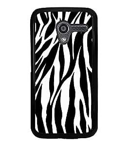 Black & White Zebra Print 2D Hard Polycarbonate Designer Back Case Cover for Motorola Moto X :: Motorola Moto XT1052 XT1058 XT1053 XT1056 XT1060 XT1055