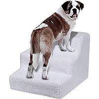 Yaheerech 3 Pasos Escalera de Perros Gatos Mascotas con Fundas Extraíble