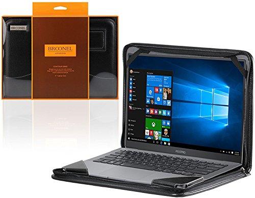 Broonel - Contour Series - Schwarz Heavy Duty Lederschutzhülle für dieHP OMEN 15-ax237nf Laptop Gaming 15 inch