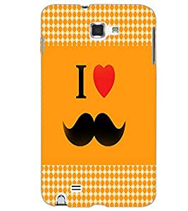 SAMSUNG GALAXY NOTE 1 I LOVE MUSTACHES Back Cover by PRINTSWAG