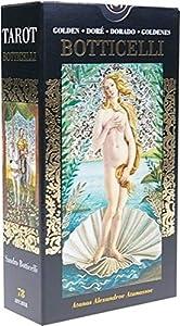 Tarot Dore de Botticelli - 78 tarjetas de Tarot en hoja de oro, multicolor