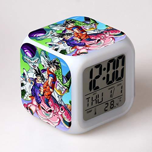 g Fliesa Goku Gohan LED Sieben Farben kreative Stimmung Wecker Erwachsene Kinder Geschenke ()