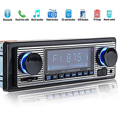 SeaStart Bluetooth-MP3-Player im Vintage-Stil, Stereo-Audio, USB, AUX Classic für das Auto