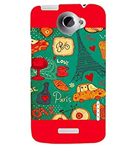 PRINTSWAG LOVE PATTERN Designer Back Cover Case for HTC ONE X